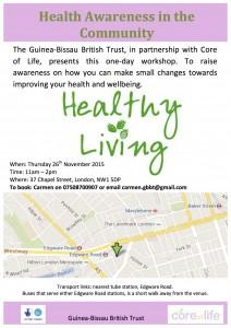 Health Awareness Workshop Flyer A4 - GBBT - 26 November 2015