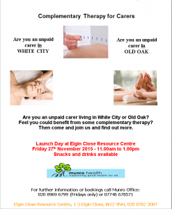 complementary therapy for carers