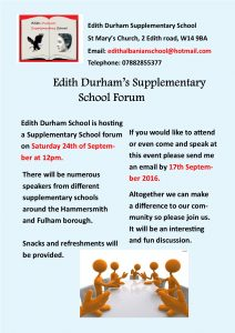 Edith Durham School Forum