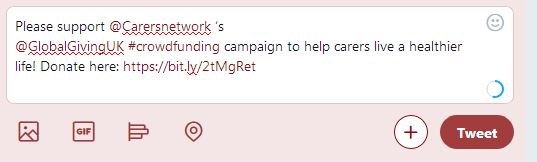Carers Network example tweet