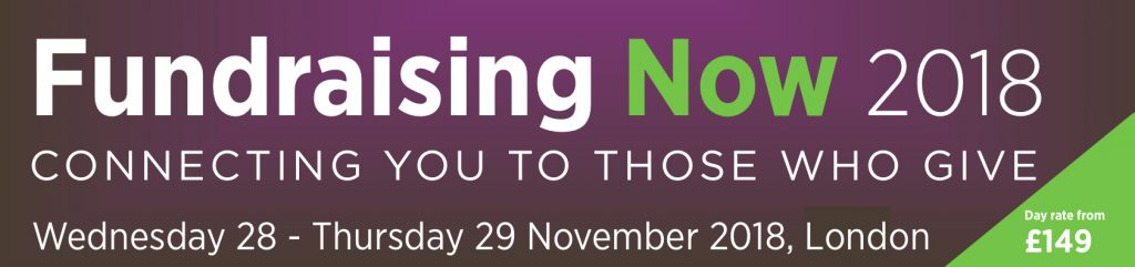Fundraising Now 2018 Banner