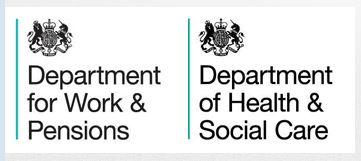 Deprtment for Work & Paensions, Health &Social Care Logos